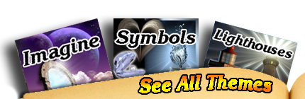 Choose from these great themes for your bookmark: imagination, symbols and lighthouses